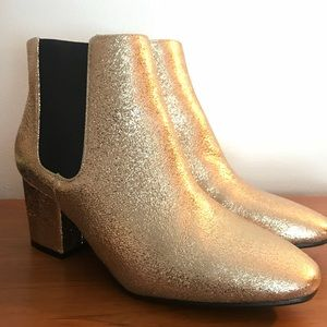 Gold Glitter Chelsea Boots